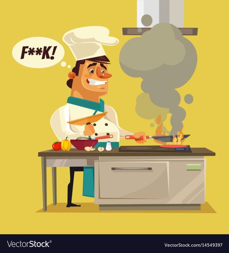 angry-sad-bad-chef-character-burn-food-vector-14549397
